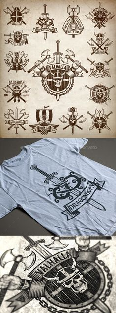 Vikings Logos - Miscellaneous Vectors