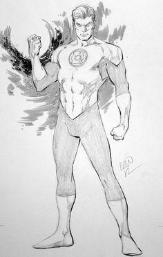 Hal Jordan, in Jean-Michel Anneau's Ivan Reis Comic Art Gallery Room Comic Book Artists, Comic Artist, Comic Books Art, Superhero Sketches, Drawing Superheroes, Comic Book Drawing, Batman Drawing, Arte Dc Comics, Bd Comics