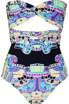 Mara Hoffman|Carnival printed bandeau swimsuit|NET-A-PORTER.COM