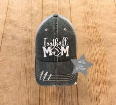Excited to share the latest addition to my #etsy shop: Football Mom Hat, Trucker Hat, Game Day Hat, Sports Mom Cap, Football Mom Baseball hat, Free Shipping Football Caps, Fall Football, Baseball Hats, Gifts For Sports Fans, Sports Mom, Football Shirt Designs, Mom Hats, Heat Press Vinyl, Embroidered Hats