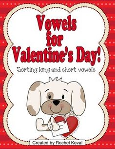 """Phonics, phonics play, long and short vowels, Valentine's Day - This is a fun way for your students to learn and reinforce their understanding of long and short vowels! They will enjoy sorting the """"candy"""" word cards onto the correct mat or decorative box. """"Fun"""" cards are provided to add even more excitement to the game! Great for any center too!"""