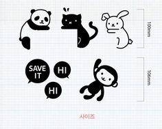 . material: PVC  . incluye: Panda, gato, conejo, mono  . hecho en Corea.     Disfrutar de las compras