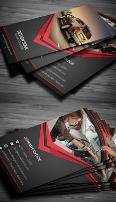 Rent A Car Business Card #businesscards #businesscardesign #printready…