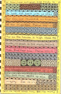 Susan Sauls' Art Pages: Scripture Journal Pages