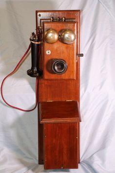 RARE NATIONAL WALNUT 2 BOX PHONE | eBay
