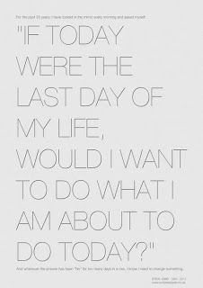 Steve Jobs asked himself this every day for 30 years. I can say I would have my life no other way at this moment.