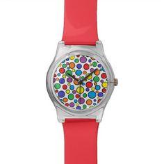 Colorful Polka Dots Watch
