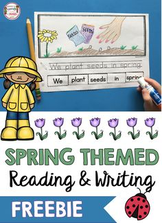 FREE Spring Printables for kindergarten and first grade - guided reading lesson plans - writer's workshop - writing sentences and writing prompts - huge pack of FREE printables for literacy centers or reading block - pre-k and first grade Kindergarten Freebies, Kindergarten Lesson Plans, Kindergarten Activities, Preschool, Pre K Lesson Plans, Spring Activities, Guided Reading Lesson Plans, Writing Sentences, Writing Prompts