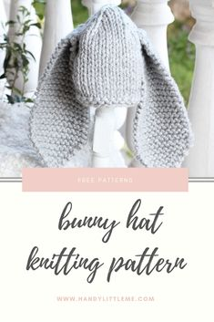 Make a bunny hat for your baby or toddler with this free knitting pattern. Plus other free Easter knitting patterns.
