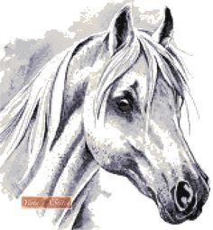 White horse cross stitch kit | Yiotas XStitch