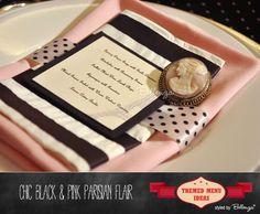 Parisian Menu Card Ideas to Suit Your Party Theme!