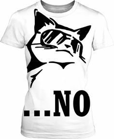 Sorry, my cat said no... Minimal black and white tee shirt #design, animal person clothing, badass cat vector clipart - item printed at www.rageon.com/a/users/casemiroarts -... #sexy #art #style #prints