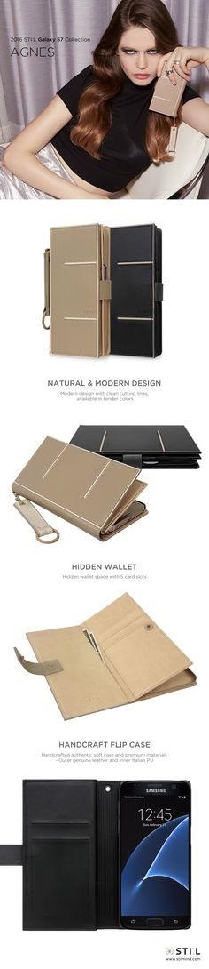 AGNES, an elegant and restrained design for made of delicate premium genuine leather. The hidden wallet space inside and detachable key ring with a refined embroidery satisfy women's needs. Apple Case, Mobile Cases, 3c, Design Case, S7 Edge, Galaxy S7, Soft Leather, Delicate, Phone Cases