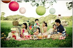 family picnic photoshoot - Google Search
