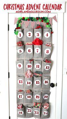Christmas advent calendar Easy Paper Crafts, Vinyl Crafts, Vinyl Projects, Mason Jar Diy, Mason Jar Crafts, Dollar Store Crafts, Crafts To Sell, Cool Advent Calendars, Christmas Crafts