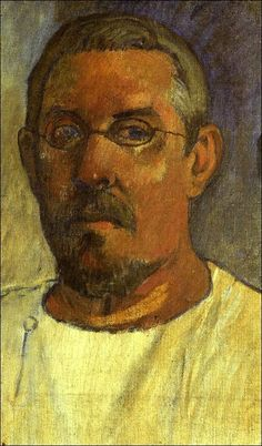 Paul Gauguin (French Polynesia, 1848-1903): Self-portrait with spectacles, 1903