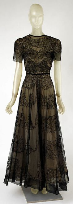 Vintage Evening Dress by Madeleine Vionnet, 1937