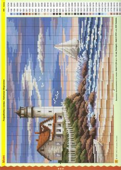 ru / Фото - Ч м 6 07 - logopedd Cross Stitch Sea, Cross Stitch Needles, Cross Stitch Cards, Cross Stitch Flowers, Cross Stitching, Cross Stitch Embroidery, Cross Stitch Designs, Cross Stitch Patterns, Loom Patterns