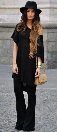 Love the all black #designersinsiders