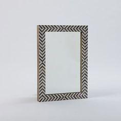 Parsons Wall Mirror - Gray Herringbone #westelm