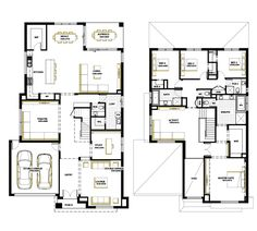Browse the various home designs and house plans on offer by Carlisle Homes across Melbourne and Victoria. Find great house plans and home designs for your needs. Family House Plans, New House Plans, Dream House Plans, Modern House Plans, House Floor Plans, Double Storey House Plans, Double Story House, Duplex House Plans, Bedroom House Plans