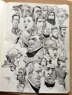 Ian mcque on in 2019 sketchbook inspiration drawings, illust Illustration Sketches, Character Illustration, Drawing Sketches, Sketching, Cartoon Drawings, Art Drawings, Pencil Drawings, Cartoon Illustrations, Arte Black