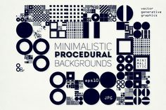 Procedural Art Backgrounds by GarryKillian on @creativemarket