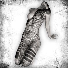 Samoan tattoo designs on all over-body #Art