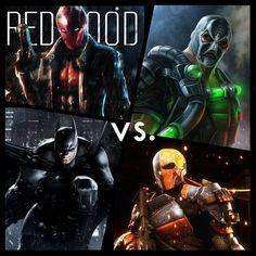 Red Hood & Batman Vs. Bane & Deathstroke