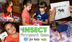 Mom to 2 Posh Lil Divas: Insect and Bug Themed Movement Game