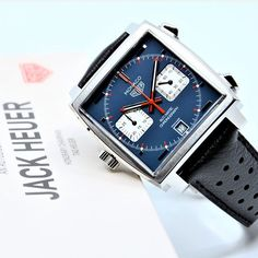 Heuer Monaco Calibre 11 by Tag Heuer Aquaracer Automatic, Tag Heuer Monaco, Tag Heuer Formula, Watch Companies, Chronograph, Smart Watch, Watches, Tags, Accessories