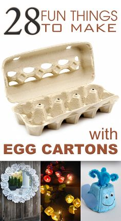 Here you will find various egg carton crafts to make with kids.
