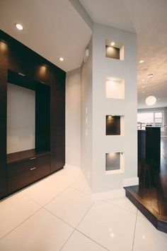 Stylish Entrance To A Contemporary Custom Home, Stylish Entry and Storage