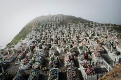 Greenland In Upernavik, the soil is too hard to bury the dead. Instead, they are laid to rest in concrete and stone-covered coffins above ground. Often, these coffins face the ocean, so that dead sealers can watch the place they once worked.