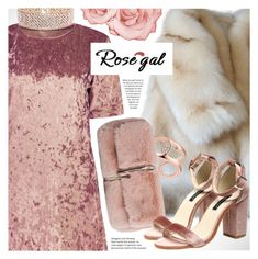 """Rosegal rose velvet short dress"" by vn1ta ❤ liked on Polyvore"
