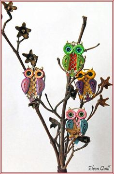 Owls - quilling by Elven Quill www.facebook.com/elven.quill