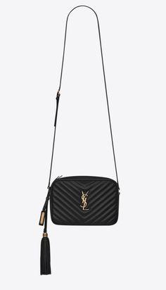 YSL Lou camera bag in black.