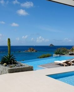 There are no neighbors in sight, just uninterrupted ocean views- Villa Rox, St. Barthelemy. #Jetsetter