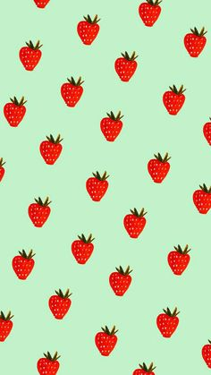 strawberry, wallpaper, and FRUiTS image Funny Phone Wallpaper, Wallpaper App, Iphone Background Wallpaper, Aesthetic Iphone Wallpaper, Aesthetic Wallpapers, Cute Food Wallpaper, Cute Backgrounds, Phone Backgrounds, Watermelon Wallpaper