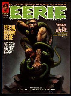 EERIE #38 Vintage Classic Horror Comic Warren Magazine MOTHMAN Sanjulian Esteban Maroto Don McGregor Tom Sutton