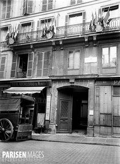 Maison natale de George Sand (1804-1876), écrivain français, 46 rue Meslay. Paris,3ème arr.