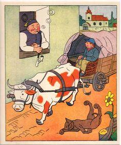 Ležící kocour Naive, Watercolour, Folk Art, The Past, Sunshine, Spaces, Ink, Comics, Drawings