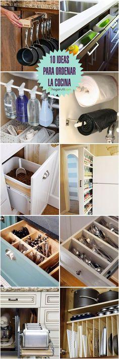 10-ideas-para-ordenar-la-cocina #decoraciondecocinasmanualidades