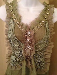 Pretty Angel Size Small Butterfly Blouse in Green NWT #PrettyAngel #Blouse