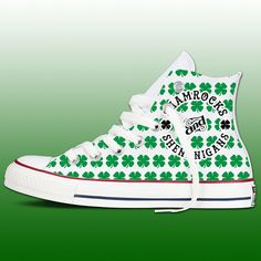 a1d8961fa94c3b St Patricks Day Chucks by InstaChucks on Etsy Converse Hightops