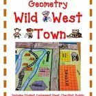 Exploring Lines, Area, and Perimeter Geometry Wild West Town The year is 1849 and the setting is the Wild West. Geometry Activity Project WILD WEST TOWN- Exploring Lines, Area, and Perimeter Teaching Geometry, Geometry Activities, Teaching Math, Math Activities, Maths Area, Area And Perimeter, Third Grade Math, Fourth Grade, Math Measurement