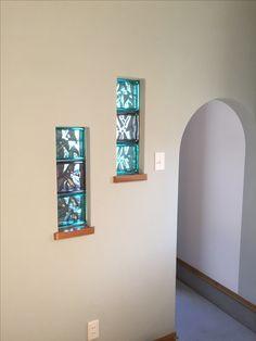 原田建築、大分県、玄関、ガラスブロックでおしゃれに、施工事例