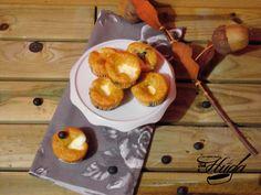 Muffins de arándanos con queso | Las mejores recetas de Huga