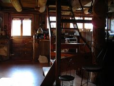 kitchen in dairy stable by omoo, via Flickr