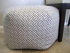 "24"" Ottoman Pouf Floor Pillow Waverly Cross Section Charcoal. $110.00, via Etsy."